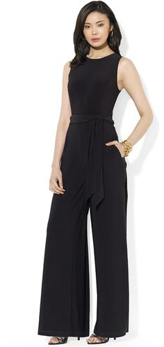 42afe324b7fb Lauren Ralph Lauren Sleeveless Wide-Leg Jumpsuit