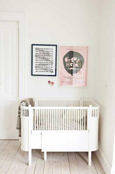 Stylish Convertibles: Cribs to Toddler Beds Baby Bedroom, Nursery Room, Girl Nursery, Kids Bedroom, Nursery Decor, Kids Rooms, White Nursery, Nursery Rhymes, Nursery Ideas