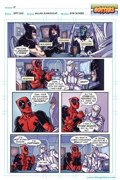 Gutters - Issue #27 by William Dean Blankenship Jr.  Oh, Deadpool. This is why I love you.