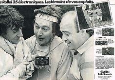 PUBLICITE ADVERTISING 054  1980  ROLLEI 35 éléctronique appareil phot  ( 2 pages