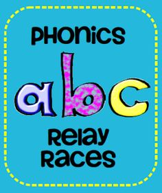 Teach123 - tips for teaching elementary school: Phonics Relay Races, great to use with multiple age levels