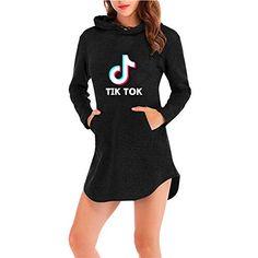 TIK Tok Vestido Asimetrico Mujer Manga Larga Camisa Irregular Tunica c Kids Outfits Girls, Cute Outfits For Kids, Teen Fashion Outfits, Trendy Outfits, Cool Outfits, Trendy Hoodies, Pajama Outfits, Casual Winter Outfits, Clothes