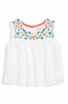 Peek Gigi Embroidered Top (Baby Girls)