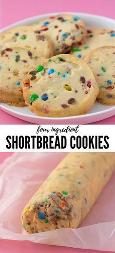Buttery Shortbread Cookies made from scratch. These egg-free cookies are so easy to make and you can add any mix-in or flavour combo you like! Eggless Cookie Recipes, Eggless Desserts, Eggless Baking, Dessert Recipes, Easy Biscuit Recipes, Egg Free Desserts, Egg Free Recipes, Vegan Desserts, Egg Free Cookies