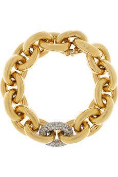 Eddie Borgo 18kt gold plated chain bracelet