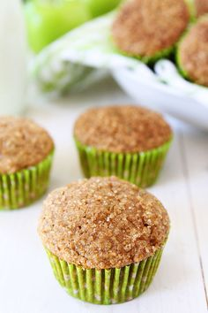 Apple Zucchini Muffins You get your fruits and veggies in these delicious little muffins! Kids and adults love these healthy muffins! Apple Zucchini Muffins, Zucchini Muffin Recipes, Healthy Muffins, Healthy Sweets, Healthy Baking, Apple Muffins, Healthy Zucchini, Eat Healthy, Zucchini Bread