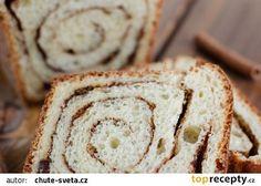 Sladký skořicový chléb recept - TopRecepty.cz Bread, Recipes, Brot, Baking, Breads, Ripped Recipes, Buns, Cooking Recipes