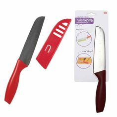 DCI Creative Kitchen Ruler Knife, Assorted Red and Black by Decor Craft Inc / DCI. $11.04. Assorted red and black polypropylene handles (color is random and is chosen at the time of shipping). Stainless steel blade features 1-inch markings. Dishwasher safe. Measure and chop. Measures 11.125 by 1.63 by 0.92-inch. Measure and chop. Cut your vegetables, fruit, cheese or meat to the perfect size with the Ruler Knife. Stainless steel blade features 1-inch markings. Assorted red...