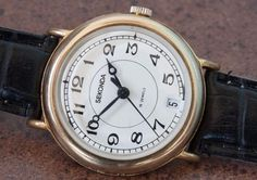 SECONDA 2614.H 19 JEWELS With Data Soviet USSR Watches Mechanical Gold Plated #Poljot #Vintage