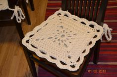 Crocheted chair cover