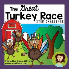 #Thanksgiving #STEM Challenge: The Great Turkey Race - PPT - Students must create turkey stunt doubles that will be able to move fast to trick the farmer and not end up as Thanksgiving dinner! #scichat