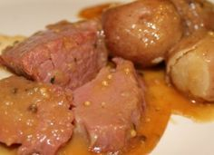 Fast and easy recipe for corned beef, potatoes, and cabbage cooked in a pressure cooker.