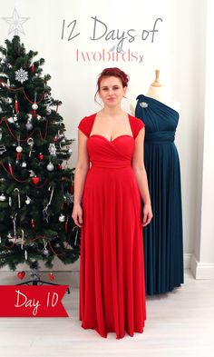 We ADORE this vintage inspired style with it's sweetheart neckline and cap-sleeves. To be in with a chance to win your very own multiway infinity dress in time for Christmas simply re-pin this and describe your dream honeymoon destination in the pin description. For the front view and the competition terms & conditions click the pic. #love2b
