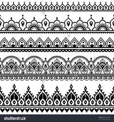 Mehndi, Indian Henna Tattoo nahtlose Muster, Design-Elemente You are in the right place about Tattoo Pattern drawing Here we offer you the most beautiful pictures about the Tattoo Pattern geometric yo Henna Tattoo Designs, Henna Tattoos, Henna Tattoo Muster, Mandala Arm Tattoo, Henna Tattoo Hand, Muster Tattoos, Lace Tattoo, Mehndi Designs, Mandala Art Lesson