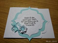 gr: Above all else, guard your heart. Guard Your Heart, Stamps, Creations, Cards, Life, Ideas, Seals, Stamp, Stamping