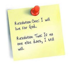 """As we near the New Year, let's remember what the great Reformist preacher Jonathan Edwards said: """"Resolution One: I will live for God. Resolution Two: If no one else does, I still will."""""""