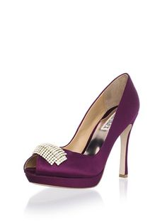 Badgley Mischka Platinum Women's Julia Open-Toe Pump at MYHABIT--I could not love this color more