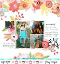 Project Ideas for Bella Blvd - Illustrated Faith - She Blooms Collection - 12 x 12 Double Sided Paper - She Blooms