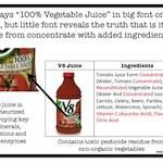 Don't Fall Victim To These Tricky Juice Labels........ recipe on jet for home made v8 juice