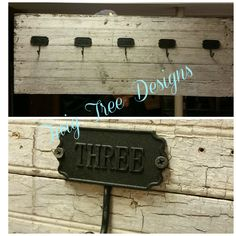 Custom entry way hall tree with hooks that are #'d
