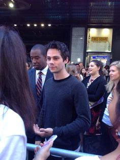 Someone's in New York! Dylan O'brien appears on Good Morning America, New York. Sept 15, 2015.