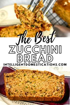 Best recipe for homemade, moist pecan zucchini bread. We add pecans for a southern crunch. Use walnuts if you like. #homemadebread #zucchini Pork Recipes, Crockpot Recipes, New Recipes, Holiday Recipes, Easy Recipes, Dinner Recipes, Easy Meals, Easy Zucchini Bread, One Dish Dinners