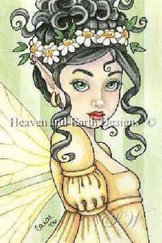 Cross stitch embroidery pattern 20 pieces different colors numbered legend number of stitches and colors Fairy Coloring, Colouring Pages, Adult Coloring, Cross Stitch Embroidery, Embroidery Patterns, Unicorns And Mermaids, Fairy Art, Drawing People, Fantasy Art