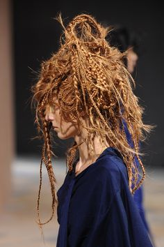 kamo katsuya's hair is full of secrets | redhead braids junya watanabe spring/summer 14