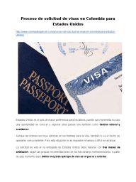 Proceso de solicitud de visas en Colombia para Estados Unidos