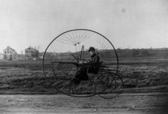 "The ""New Iron Horse"" tricycle. 1882."