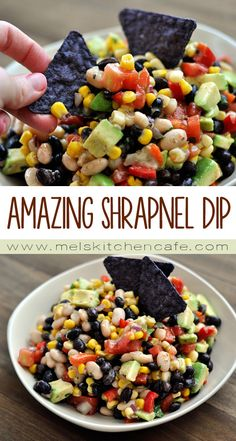 This delicious and healthy dip is a major explosion of color and taste and texture.