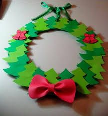 Risultati immagini per decoraciones navideñas Decor Crafts, Diy And Crafts, Crafts For Kids, Arts And Crafts, Paper Crafts, Winter Christmas, Christmas Wreaths, Christmas Crafts, Christmas Decorations