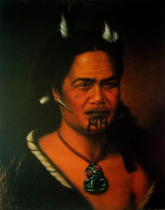 Portrait of a Maori Chieftainess with a Pipe Through Her Ear Lobe and Raerae Marks to Cheek Once Were Warriors, Maori Words, Polynesian People, Maori Patterns, Portrait Art, Portraits, Maori Art, Kiwiana, Australian Art