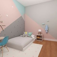 Trendy Ideas For Painting Ideas For Kids Rooms Daughters Murals Wall Murals Bedroom, Girl Bedroom Walls, Bedroom Wall Designs, Bedroom Wall Colors, Girl Room, Bedrooms, Baby Room Decor, Room Decor Bedroom, Kids Room Paint