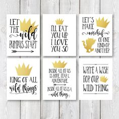 Where The Wild Thing Are Birthday Party Printable by IslaJoStudio Wild One Birthday Party, Baby Boy First Birthday, 10th Birthday Parties, 1st Boy Birthday, 1st Birthdays, Birthday Ideas, Birthday Decorations, Birthday Crowns, Golden Birthday