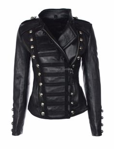 Designer Style Women Lambskin Leather Military Style Soft Genuine Jacket Gl3
