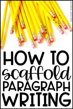 Have your students mastered writing sentences but need more support to begin writing paragraphs? Check out how I use scaffolding tools to teach students to write paragraphs in my special education classroom. Paragraph Writing, Opinion Writing, Persuasive Writing, Teaching Writing, Writing Sentences, Academic Writing, Teaching Ideas, Writing Strategies, Writing Resources