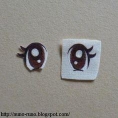 Boneca de Pano: bonecas -  Veja acima como pintar os olhos, em tecido separado e depois recortado e colado no rosto da boneca, veja abaixo mais ideias de como pintar os olhos: