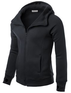 Mens Inclined Zip-up Casual Hood Jacket #doublju