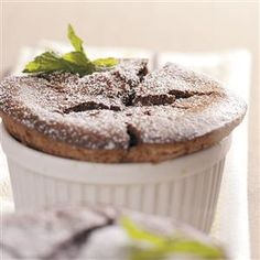 Chocolate Mint Souffles Recipe