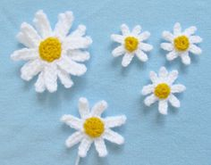 Your World Needs More Cuteness: Spring Daisy Crochet Patterns | Squirrel Picnic