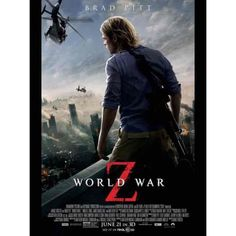 Zombie horror film about zombies taking over the world. Starring brad pitt has the perfect dose of action and horror that'll. World war z movie quiz. Brad Pitt, Best Zombie Movies, Great Movies, Popular Movies, Film World, World War, Marc Forster, Mireille Enos, Z Movie