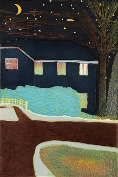 Love Tom Hammick's night paintings and prints!!