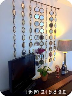 DIY hanging mirrors
