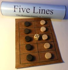 Five Lines/Pente Grammai/Game of Heroes Ancient Greek/Roman historic board game in Toys & Games, Games, Board & Traditional Games Wooden Board Games, Old Board Games, Wood Games, Game Boards, Diy Board Game, Dice Games, All Games, Games For Kids, Games To Play