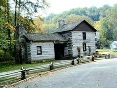 Pioneer Village. Spring Mill State Park, Mitchell, Indiana. (Spring Mill's History)