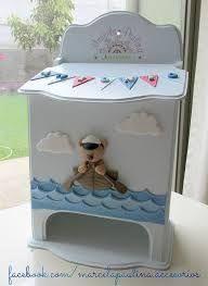 Resultado de imagen para cajas decordasen decoupage para bebes varones