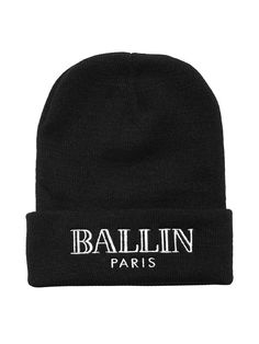 Alex & Chloe - Ballin Paris Beanie - Black w/White