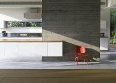 kitchen concrete wall