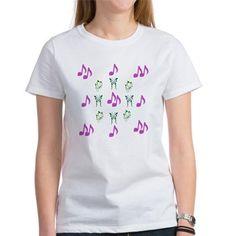 Butterflies & Notes T-Shirt
